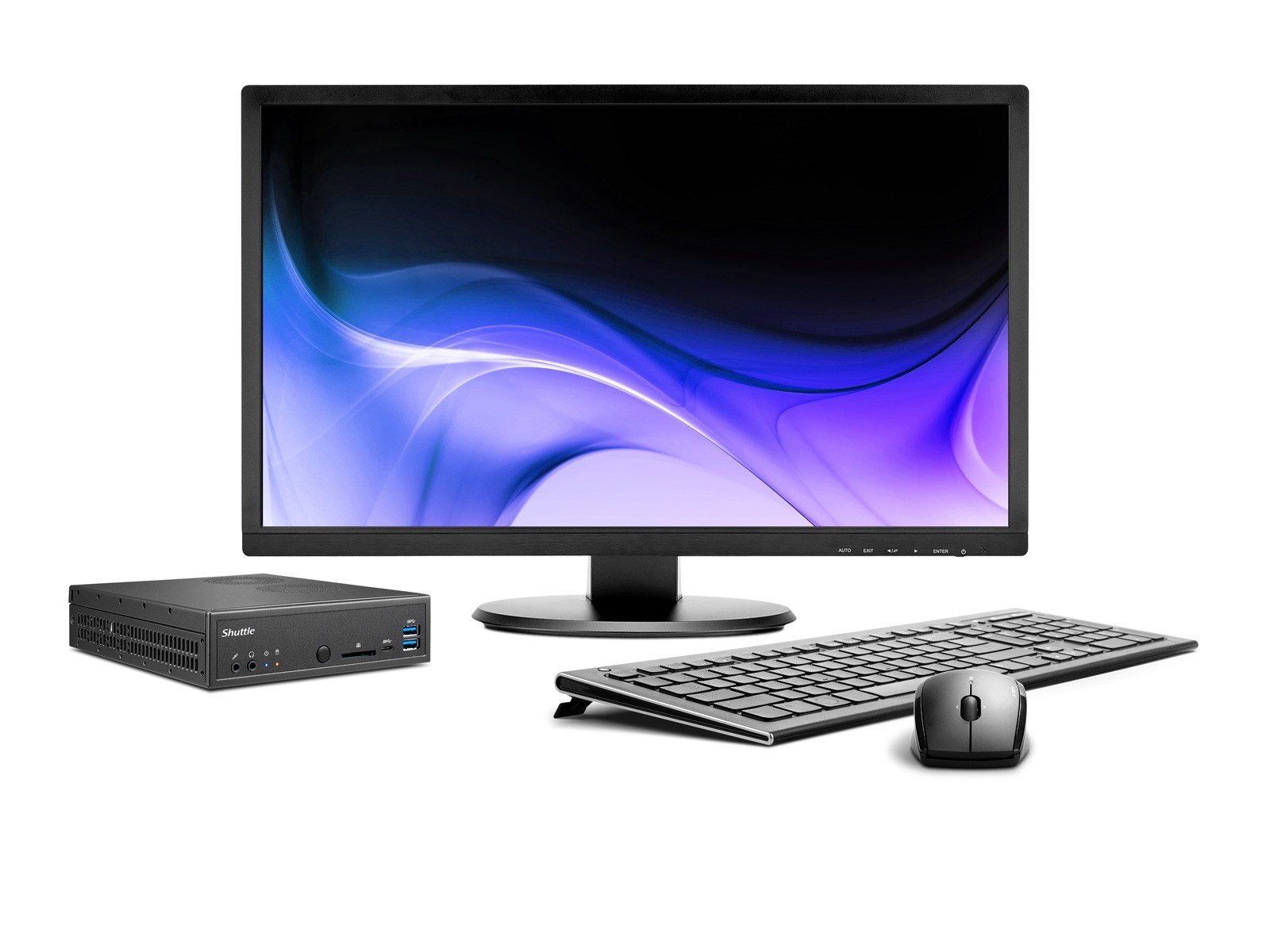 Shuttle Slim D2700B - Mini-PC robuste doté d'un port HDMI 2.0