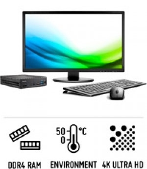 XPC Slim D1150B - Robust Slim PC for powerful Skylake processors