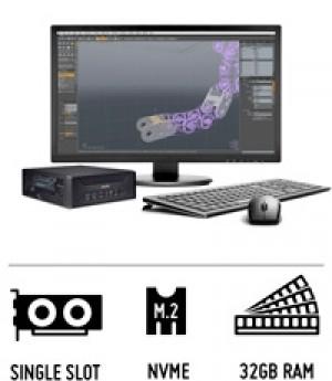 X1120S - 3D Workstation - PC de 3 litres pour cartes d'extension PCI-Express-3.0