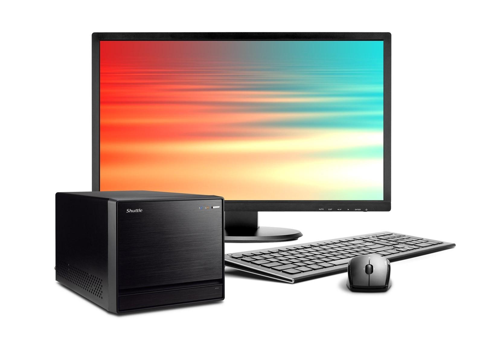 Shuttle Mini PC R8 3700P - Mini-PC pour processeurs Intel Core de 8e et 9e génération et quatre disques durs