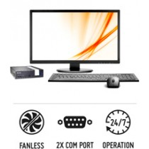 Slim XPC DX3000B - Fanless 1-litre PC suitable for 24/7 operation
