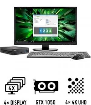Shuttle Slim PC DH0200B PC performant de 1,3 litre avec carte graphique NVIDIA pour quatre écrans UHD