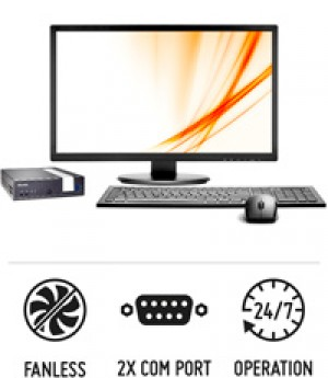 Slim XPC DX3000B - Fanless 1-litre PC suitable for 24/7 operation