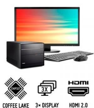 Shuttle Mini PC R63700H pour processeurs Intel Core 8e génération et trois écrans UHD
