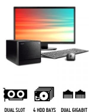 Shuttle Mini PC R8 3700H - Mini-PC pour processeurs Intel Core de 8e et 9e génération et quatre disques durs