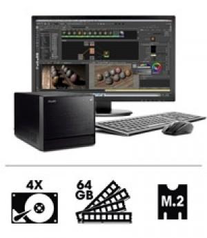 Shuttle 3D Workstation R83700S - pour processeurs Intel Core de 8e et 9e génération et quatre disques durs